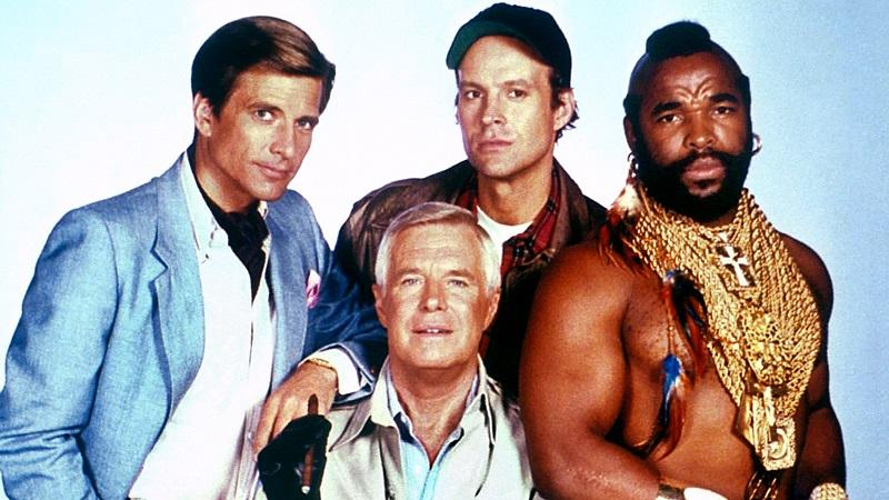 An image of the stars of the 1980s TV show 'The A-Team
