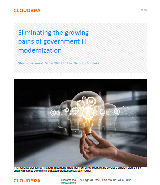 cloudera eliminating the growing pains of gov IT modernisation