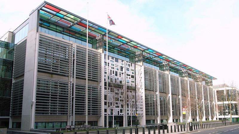 An image of Home Office headquarters on London's Marsham Street