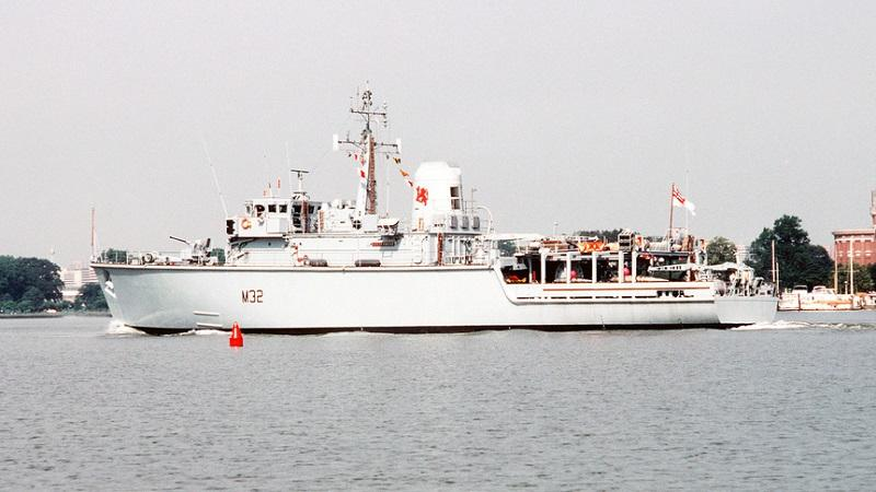 An image of a Royal Navy minesweeper vessel