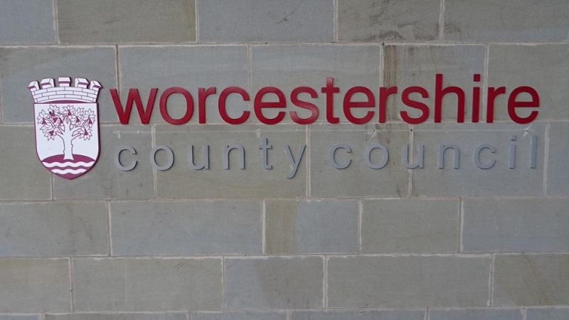 An image of a Worcestershire county council sign