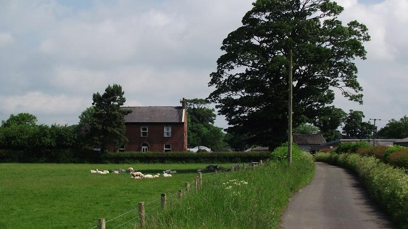 An image of a farmhouse in the Lancashire village of Samlesbury
