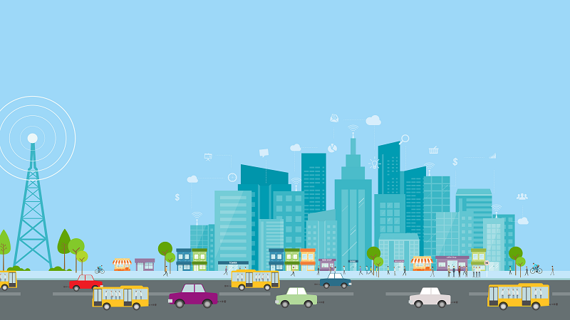 A picture of a smart city