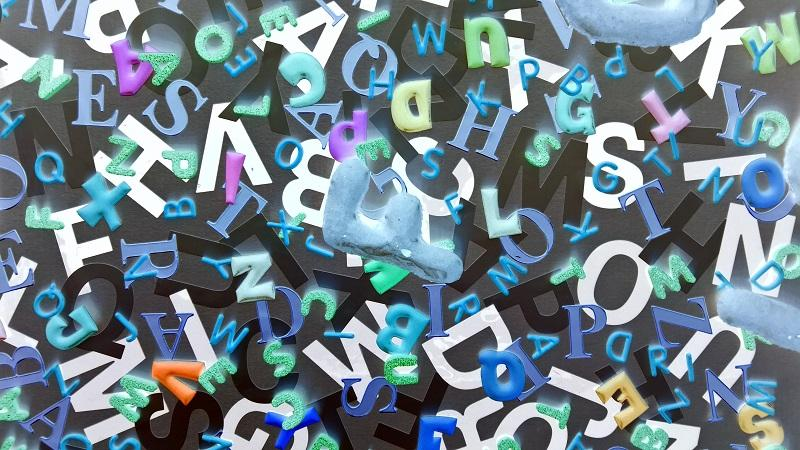 An image of a jumble of different letters